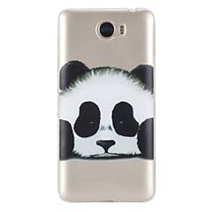 Недорогие Чехлы и кейсы для Huawei серии Y-Кейс для Назначение Huawei Honor 5C Huawei Прозрачный С узором Кейс на заднюю панель Панда Мягкий ТПУ для Huawei Honor 5C Huawei Y5 II /