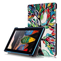お買い得  タブレット用ケース-ケース 用途 Lenovo フルボディーケース / タブレットケース ハード PUレザー のために