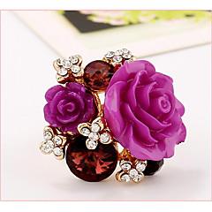 preiswerte Ringe-Damen Stulpring - Harz, Rosa Perle Blume Verstellbar Grün / Blau / Königsblau Für Hochzeit Party Geschenk