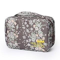 حقيبة السفر منظم أغراض السفر حقيبة أدوات تجميل مقاوم للماء المحمول جميل إلى ملابس نايلون 29*11*18 ورد كارتون السفر