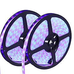 お買い得  LED ストリングライト-HKV フレキシブルLEDライトストリップ 300 LED RGB カット可能 調光可能 防水 変色 ノンテープ・タイプ 接続可 DC 12V