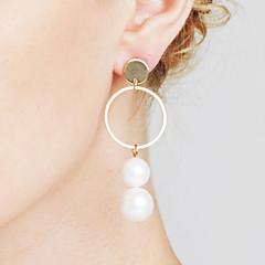 preiswerte Ohrringe-Damen Nicht übereinstimmend Ohrring - Erklärung, Personalisiert, Geometrisch Gold / Silber Für Weihnachts Geschenke / Jahrestag / Alltagskleidung