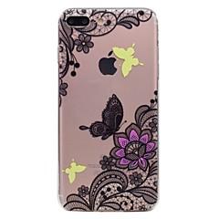 Недорогие Кейсы для iPhone 6 Plus-Для apple iphone 7 7plus phone case tpu материал бабочка цветы узор окрашенный телефон чехол 6s плюс 6plus 6s 6 se 5s 5