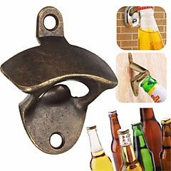 Wall Beer Opener Metal Retro Wall-Mounted Bottle Opener Wall Opener Kitchen Party Supplies --1pcs