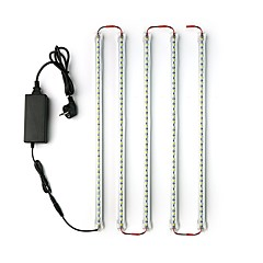 5Pack  LED Light Bars 50CM 5050 LED Tube Light Under Counter Fixtures 12V 5A Power Adapter for Showcase Cabinets