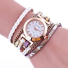 Women's Fashion Watch Bracelet Watch Chinese Quartz PU Band Vintage Casual Elegant Black White Blue Red Brown Green Gold Pink