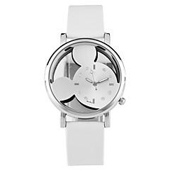 preiswerte Damenuhren-Damen Quartz Armbanduhr Totenkopfuhr Chinesisch Schlussverkauf PU Band Freizeit Zeichentrick Einzigartige kreative Uhr Kleideruhr Elegant