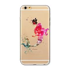 Θήκη για iphone 7 plus 7 κάλυψη διαφανές σχέδιο πίσω κάλυμμα περίπτωση γελοιογραφία γελοιογραφία μαλακό tpu για apple iphone 6s συν 6 plus