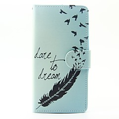 Case For Wiko Lenny 3 Lenny 2 Case Cover The Feathers Pattern PU Leather Cases for Wiko Sunset 2