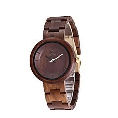 Heren Horloge Hout Japans Kwarts houten Hout Band Creatief Luxueus Elegante horloges Zwart
