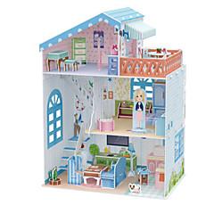 Puppen 3D - Puzzle Holzpuzzle Puppenhaus Papiermodel Spielzeuge Berühmte Gebäude Architektur 3D Heimwerken Unisex Stücke