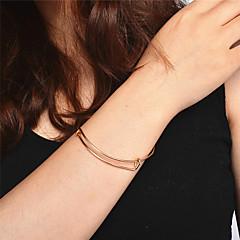 preiswerte Armbänder-Damen Manschetten-Armbänder - Personalisiert, Modisch, Ohne Verschluss Armbänder Gold / Silber Für Weihnachten / Party / Geburtstag