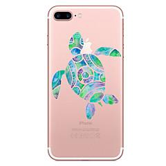 Случай для яблока iphone 7 7 плюс крышка крышки черепахи картина покрашенная высокая проницаемость материал tpu мягкий случай случай
