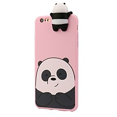Kompatibilitás iPhone 8 iPhone 8 Plus tokok Ütésálló Minta Hátlap Case 3D figura Panda Puha Szilikon mert Apple iPhone 8 Plus iPhone 8