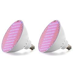 preiswerte LED-Birnen-2pcs 18W 2500lm E27 Wachsende Glühbirne 500 LED-Perlen SMD 2835 Blau Rot 85-265V