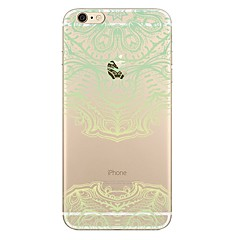 Недорогие Кейсы для iPhone 4s / 4-Кейс для Назначение Apple iPhone 7 / iPhone 7 Plus Прозрачный / С узором Кейс на заднюю панель Кружева Печать Мягкий ТПУ для iPhone 7 Plus / iPhone 7 / iPhone 6s Plus