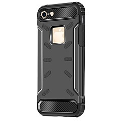 olcso iPhone 6 tokok-Case Kompatibilitás Apple iPhone 7 Plus iPhone 7 Ütésálló Fekete tok Páncél Kemény PC mert iPhone 7 Plus iPhone 7 iPhone 6s Plus iPhone