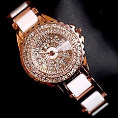 preiswerte Damenuhren-Damen Armband-Uhr Armbanduhr Quartz Kreativ Edelstahl Band Analog Charme Luxus Glanz Rotgold - Rotgold