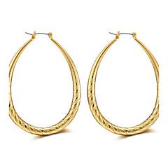 Lureme 56mm Twist Oval Hoop Earrings for Women-18K Gold
