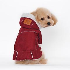 abordables Regalos para Amantes de Mascotas-Perro Abrigos Ropa para Perro Un Color Fucsia Marrón Piel Artificial Disfraz Para mascotas Fiesta Casual/Diario Mantiene abrigado Deportes