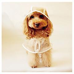 お買い得  犬用ウェア&アクセサリー-犬 レインコート 犬用ウェア ソリッド プラスチック コスチューム ペット用 春 & 秋 / 夏 男性用 / 女性用 カジュアル/普段着
