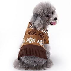 お買い得  犬用ウェア&アクセサリー-犬 セーター 犬用ウェア スノーフレーク柄 グレー / コーヒー コットン コスチューム ペット用 男性用 / 女性用 カジュアル/普段着