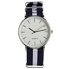 preiswerte Tolle Angebote auf Uhren-Herrn Modeuhr Armbanduhr Japanisch Quartz / Nylon Band Analog Freizeit Elegant Marinenblau - Blau / Weiß