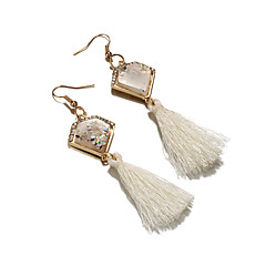 Women's Drop Earrings Crystal Acrylic Fashion Elegant Crystal Acrylic Cotton Alloy Triangle Shape Jewelry ForDaily Casual Stage Formal