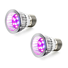 preiswerte LED-Birnen-2pcs 4W 165-190lm E14 GU10 E27 Wachsende Glühbirne 10 LED-Perlen SMD 5730 Blau Rot 85-265V