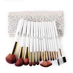 Msq 15 kpl meikit harjalla setti keinotekoinen hiusväri harja kosmetiikka harja setti herkkä valkoinen malli pu tapaus