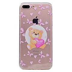 Недорогие Кейсы для iPhone 6 Plus-Для apple iphone 7 7plus phone case tpu материал бабочка медведь узор окрашенный телефон корпус 6s плюс 6plus 6s 6 se 5s 5