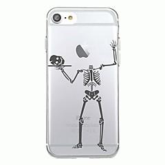 Для iphone 7plus чехол чехол прозрачный узор задняя крышка чехол halloween скелет мягкий tpu для iphone 7 6splus 6plus 6s 6 5 5s se