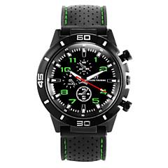 preiswerte Tolle Angebote auf Uhren-Herrn Quartz Armbanduhr Sportuhr Armbanduhren für den Alltag Silikon Band Cool Schwarz