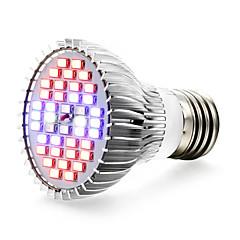 E27 Luces LED para Crecimiento Vegetal 40 SMD 5730 800-1200 lm Rojo Azul UV (Luz Negra) K V