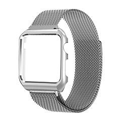 Milanese band voor appelwatch serie 1 2 RVS vervangende armband met metalen frame