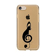 Caso para el iphone ultrafino suave 7 de la cubierta del caso de la contraportada del tpu del gato del iphone 7 7 más 6 6s más se 5s 5 5c