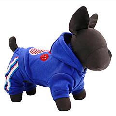 billige Hundetøj og tilbehør-Hund Jumpsuits Hundetøj Afslappet/Hverdag Amerikansk / USA Rød Blå Kostume For kæledyr