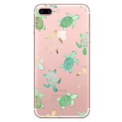 olcso iPhone 7 tokok-Case Kompatibilitás Apple iPhone X iPhone 8 Átlátszó Minta Fekete tok Állat Puha TPU mert iPhone X iPhone 8 Plus iPhone 8 iPhone 7 Plus