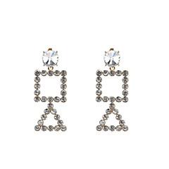 Χαμηλού Κόστους Σκουλαρίκια Κρίκοι-Γυναικεία Κρεμαστά Σκουλαρίκια Κρίκοι Στρας Μοντέρνα Εξατομικευόμενο Γυαλί Προσομειωμένο διαμάντι Κράμα Geometric Shape Κοσμήματα Για