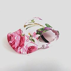abordables Regalos para Amantes de Mascotas-Gato Perro Accesorios para el Pelo Bandanas y Sombreros Ropa para Perro Flores/Botánica Rosa Lona Disfraz Para mascotas Fiesta