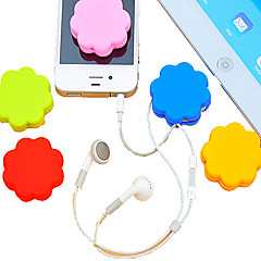 billige Kabelholdere-Plum Blossom Sillicone Cartoon Earphone Cable Wire Cord Organizer Cable Winder