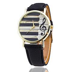 voordelige Elegante horloges-Heren Kwarts Polshorloge Chinees Vrijetijdshorloge PU Band Informeel Uniek creatief horloge Dress horloge Elegant Modieus Zwart Wit