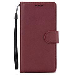 olcso LG tokok-Tok lg k10 (2017) lg k8 (2017) hordtáska kártyatartó pénztárca állvánnyal flip teljes karosszéria tok egyszínű kemény pu bőr