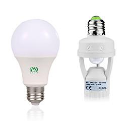 preiswerte LED-Birnen-YWXLIGHT® 12W 1050-1250lm E27 LED Kugelbirnen 24 LED-Perlen SMD 2835 Menschlicher Körper Sensor Dekorativ Warmes Weiß Weiß 85-265V