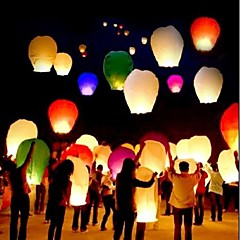 abordables Decoración del Hogar-10pcs chino deseando lámpara kongming latern festival