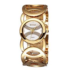 preiswerte Tolle Angebote auf Uhren-Damen Quartz Armbanduhr Sportuhr Chinesisch Chronograph Großes Ziffernblatt Schockresistent Metall Band Charme Luxus Glanz Retro Kreativ