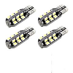 t10 8W geleid auto speling leeslamp wit 6000k 24 smd (4 stuks)