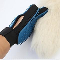 お買い得  犬用品&グルーミング用品-ネコ 犬 グルーミングキット ヘルスケア クリーニング グルーミングキット ブラシ バス 防水 携帯用 折り畳み式 ブルー