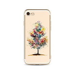 voordelige iPhone 6 hoesjes-hoesje Voor Apple iPhone X iPhone 8 Plus Transparant Patroon Achterkant Kleurgradatie Boom Zacht TPU voor iPhone X iPhone 8 Plus iPhone 8