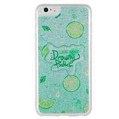 Case for apple iphone 7 plus iphone 7 cover glow in the dark pattern back cover case word / фраза фрукты блеск сияющий жесткий ПК для